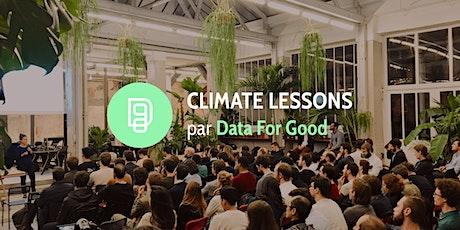 Climate Lessons : Cycle de formation au changement climatique billets