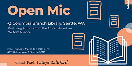 Spoken Word - Open Mic @ Columbia Branch of Seattle Public Library tickets