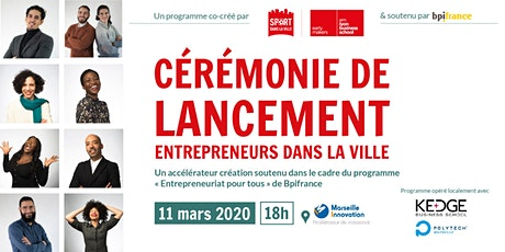 Lancement Entrepreneurs dans la Ville 2020- Marseille billets