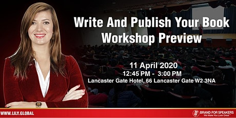 Want To Write A Book? Leverage A Book To Grow Your Brand 11 April 2020 Noon tickets
