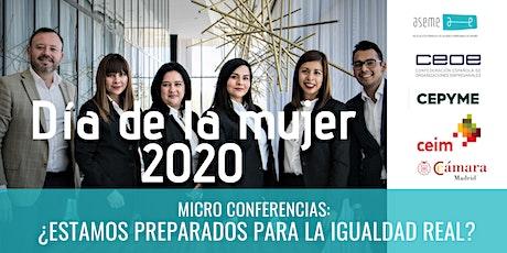Jornada de micro-conferencias: Conmemorando el día de la mujer entradas