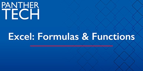 Excel: Formulas and Functions - Online tickets