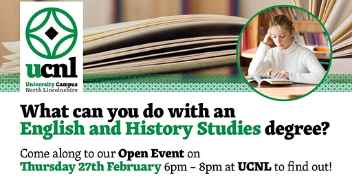 What can you do with an English and History Studies degree