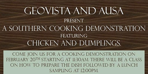 USO Fort Stewart/HAAF Cooking Demonstration sponsored by GeoVista and AUSA
