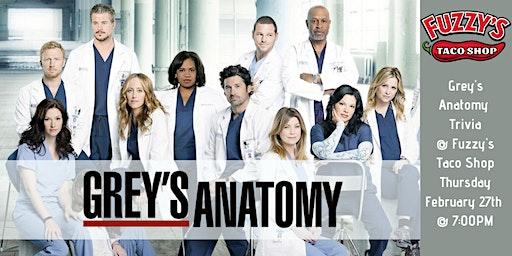 Grey's Anatomy Trivia at Fuzzy's Taco Shop