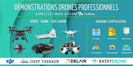 Démonstrations drones à Brest - Outils techniques, enjeux et utilisations billets