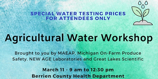 FREE Agricultural Water Workshop