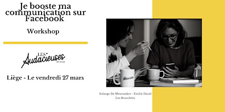 Workshop : je booste ma communication sur Facebook billets
