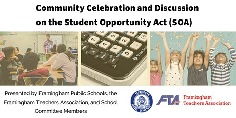 Community Celebration and Discussion on the  Student Opportunity Act (SOA) tickets