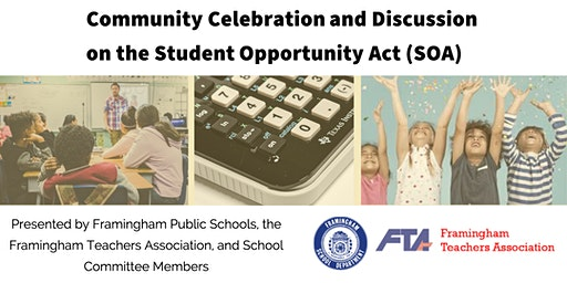 Community Celebration and Discussion on the  Student Opportunity Act (SOA)