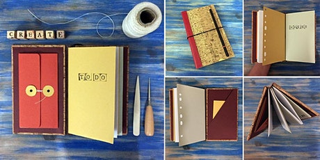 Upcycled Bookbinding: Midori style journal workshop tickets