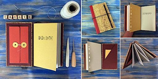 Upcycled Bookbinding: Midori style journal workshop