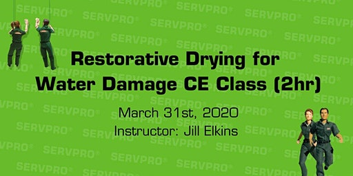 Restorative Drying for Water Damage CE Class (2hr)
