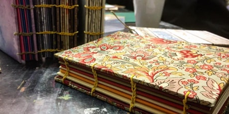 ONLINE Upcycled Bookbinding: Coptic Bookbinding  tickets