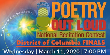 2020 Poetry Out Loud - DC Finals tickets