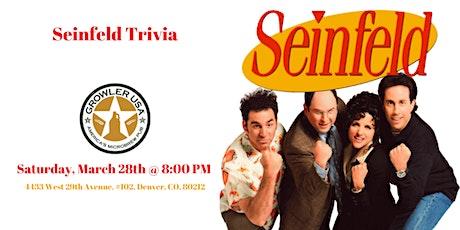 Seinfeld Trivia at Growler USA Highlands Pub tickets