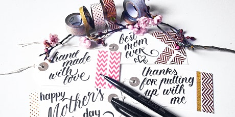 Art Workshop-Mother's Day gift tag lettering and decorating workshop tickets