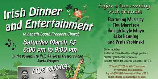 Irish Dinner and Entertainment
