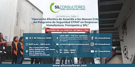 Operación Efectiva de los Nuevos Criterios de CTPAT  en Empresas boletos