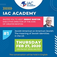 Jewish American or American Jewish - The meaning of Jewish Identities in the US/ Jeremy Burton