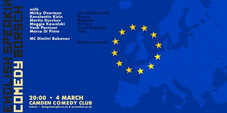 English Speaking Comedy Borsch • Foreigners Telling Jokes • Stand up Comedy tickets