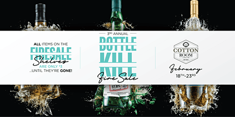 Annual Bottle Kill - Bar Inventory Blow-OUT! tickets