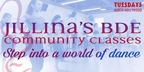 Jillina's BDE Community Classes-March! tickets
