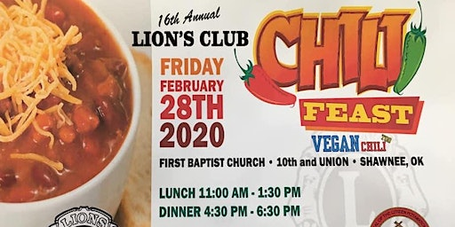 Lion's Club Chili Feast Lunch and Dinner