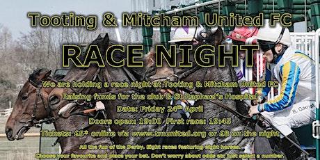 Race Night at Tooting & Mitcham Football Club tickets