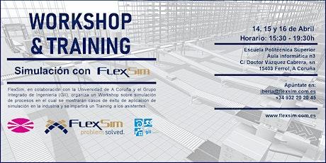 FlexSim Workshop y Training en la Universidad de A Coruña entradas