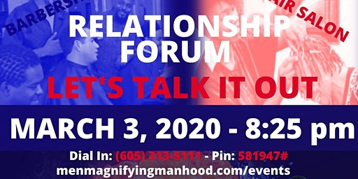 Barbershop Salon Forum - Let's Talk Relationships in 2020