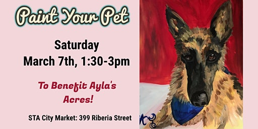 Paint Your Pet to Benefit Ayla's Acres!