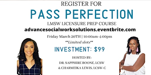 Pass Perfection: LMSW Exam Preparation Course