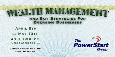 Wealth Management & Exit Strategies for Emerging Businesses tickets