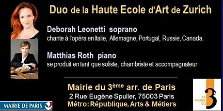 chants deRachmaninov,Brecht, Wolf, Fauré… et chansons d'Édith Piaf billets