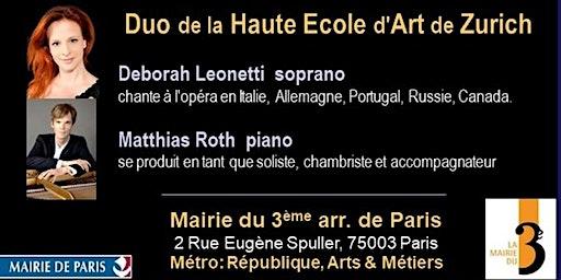 chants deRachmaninov,Brecht, Wolf, Fauré… et chansons d'Édith Piaf