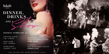 Cocktails & Cabaret (the dinner show at Baoli) tickets