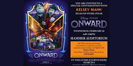 Onward: Meet and Greet with Pixar's Head of Story, Kelsey Mann tickets