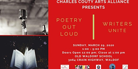 Charles County Arts Alliance Poetry Out Loud and Writers Unite! tickets