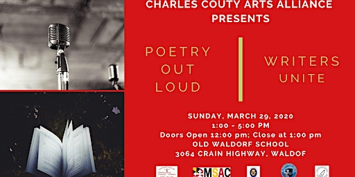 Charles County Arts Alliance Poetry Out Loud and Writers Unite!