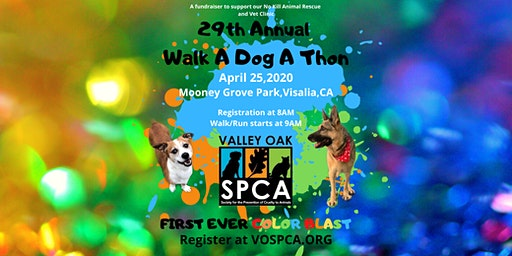 29th Annual Walk A Dog A Thon and Color Blast