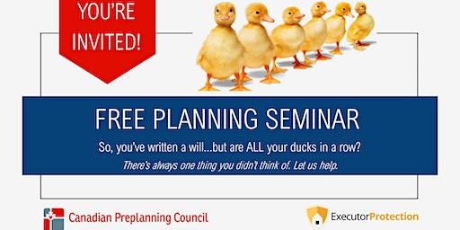 Free Preplanning Seminar @ 6:00 PM