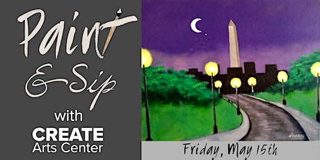 May Paint & Sip with CREATE tickets