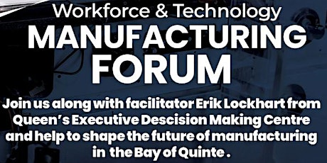 Workforce & Technology Manufacturing Forum tickets