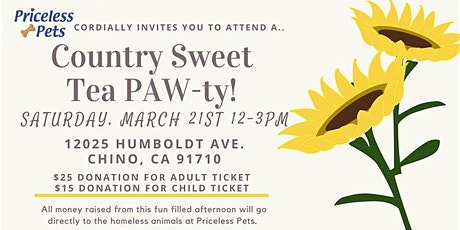 Country Sweet Tea PAW-ty tickets