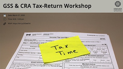 GSS and CRA Info Session-Tax Return tickets