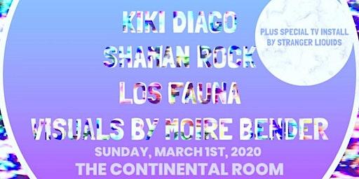 Kiki Diago, Los Fauna & Shaman Rock Live! w/ Visuals by Moire Bender!