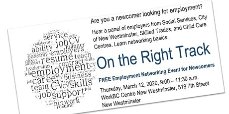 On The Right Track! Employment & Newcomers. tickets