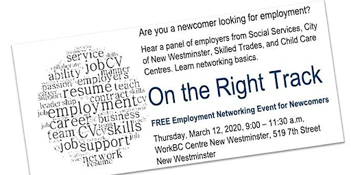 On The Right Track! Employment & Newcomers.