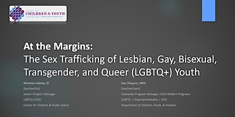 At the Margins: The Sex Trafficking of LGBTQ+ Youth tickets